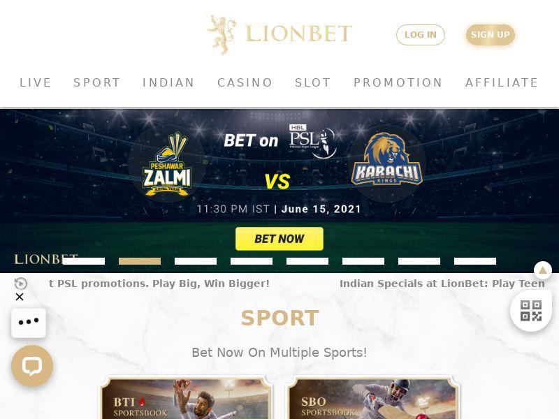 Lionbet.com Casino CPL - India