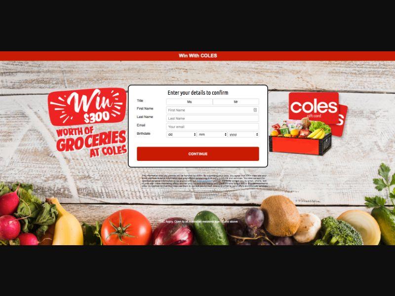 Coles New - CPL SOI - AU - Sweepstakes - Responsive