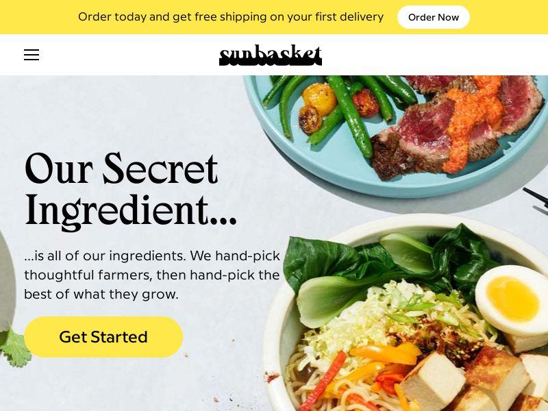 Sun Basket Organic Meals - $35 Off First Order!