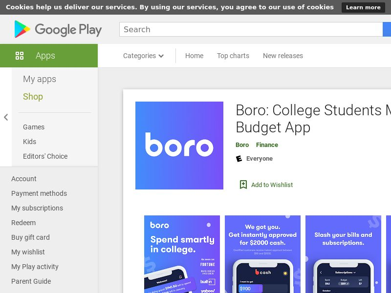 Boro: Cash for College - Android US (CPR)