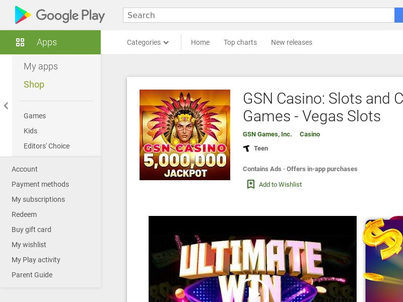 GSN Casino Android CPE | US