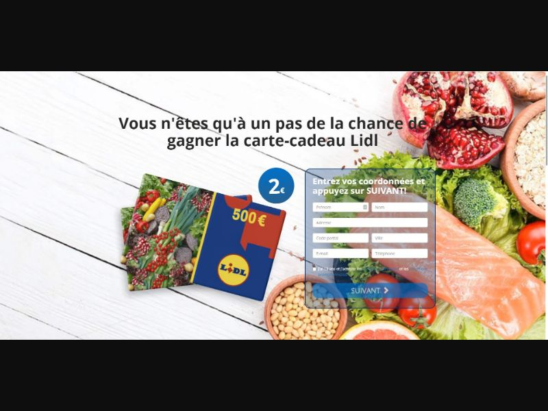 Lidl €500 Giftcard - Sweepstakes & Surveys - Trial - [FR]