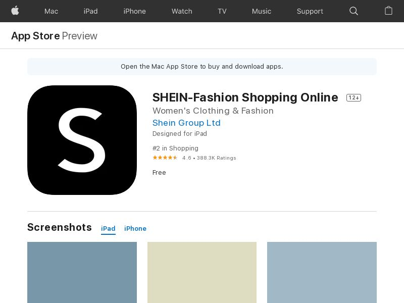 SHEIN-Fashion Shopping Online IOS UAE CPI