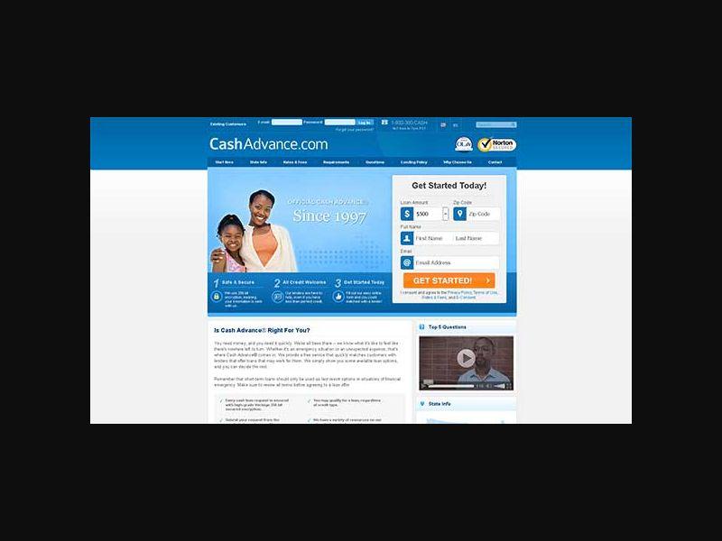 CashAdvance.com - Rev Share