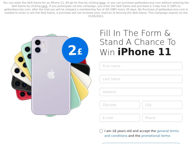 iPhone 11 v2 (Static LP) UK -CC Submits