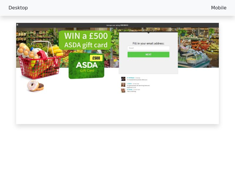 Sweepstake Win an Asda gift card - CPL SOI - All devices - [UK]