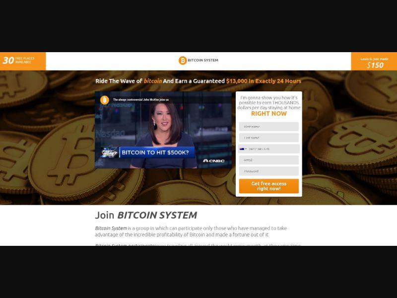 Bitcoin System - Crypto - SS - [44 GEOs]