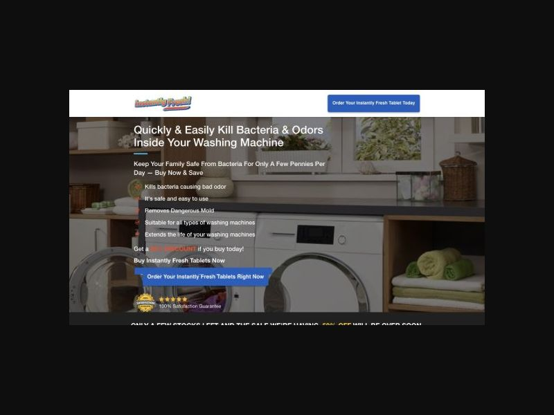 Instantly Fresh - Washing Machine Tablet (US)