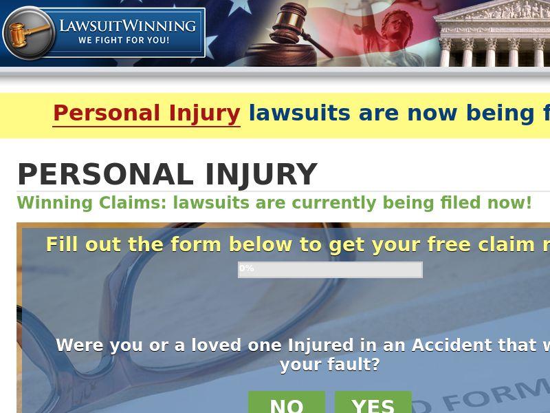 Lawsuit Winning - Personal Injury - US [DIRECT - SENSITIVE]