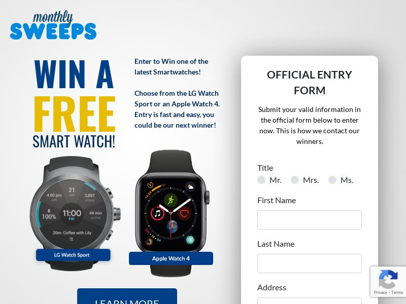 Win A Free Smart Watch Survey