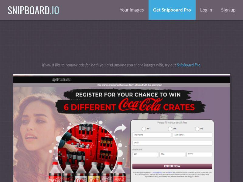 NectarContests - Coca Cola 6 Types UK - SOI