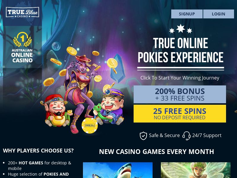 True Blue Casino [AU] (Email,Banner,Social,Native,PPC) - CPA