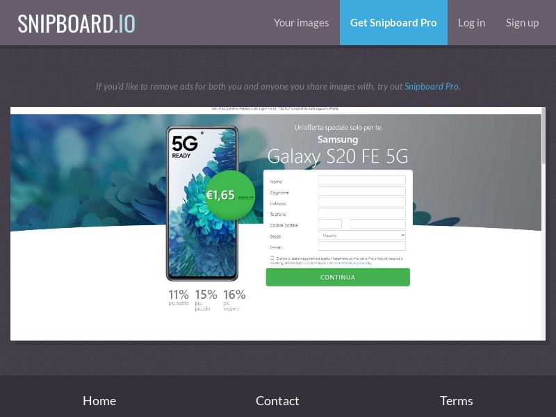 39492 - IT - Lotto24 - Samsung Galaxy S20 FE 5G - CC submit GASMOBI EXCLUSIVE