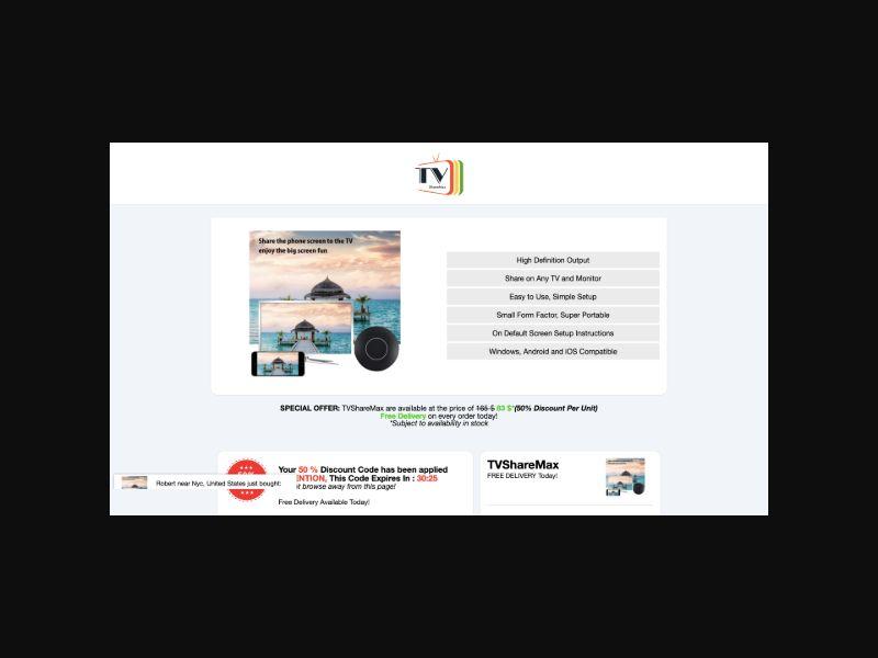 TVShareMax CPS (Worldwide)