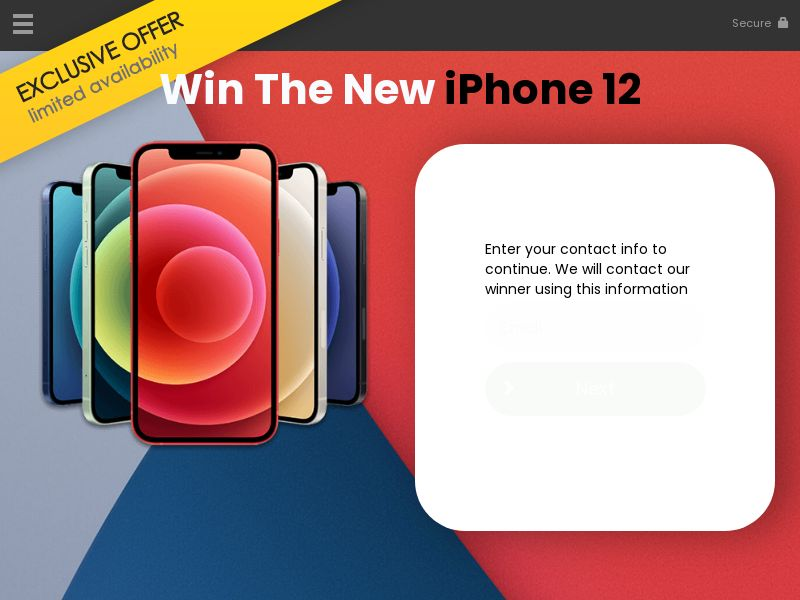Win the iphone12 - US