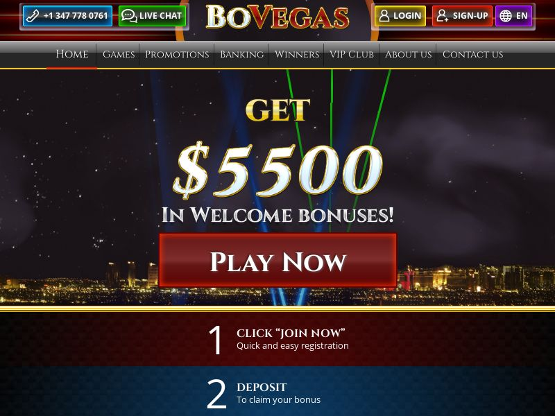 BoVegas - Home page - CA, US, NZ, AU