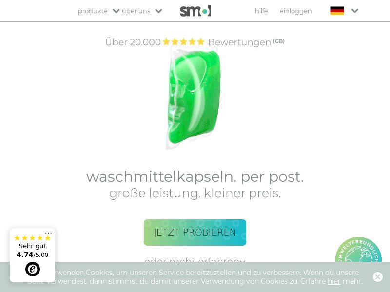 smol - Free Laundry Capsules CPA [DE]