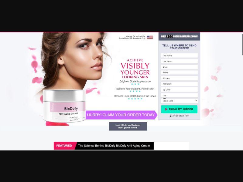 BioDefy Anti Aging Cream - Skin Care - SS - [US]