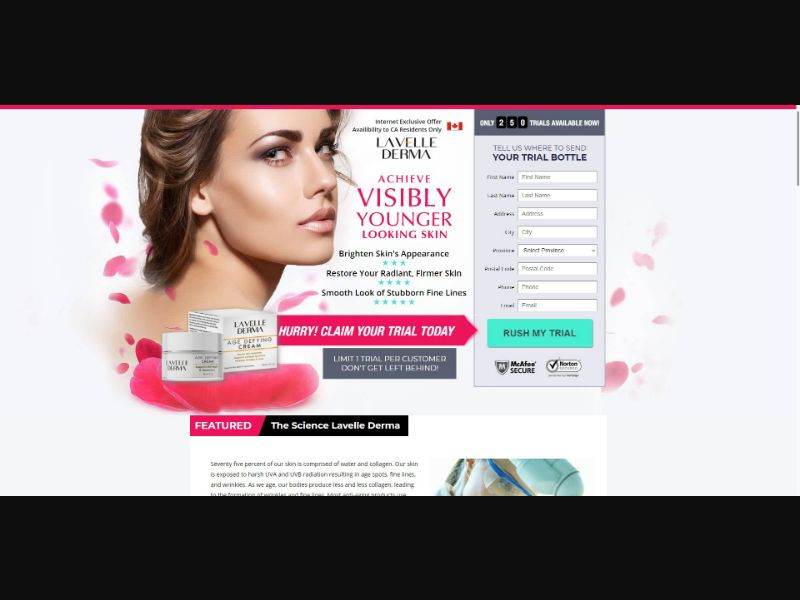 La Velle Derma Age Defying Cream - V2 - Skin Care - Trial - NO SEO - [CA]