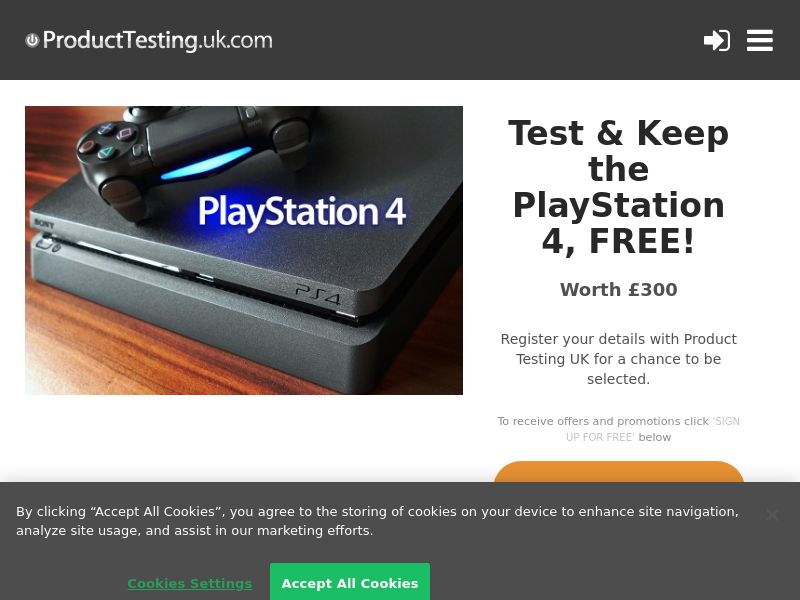 Email Submit - Playstation 4 - SOI (UK)