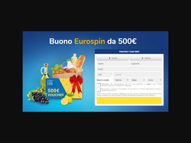 IT - Eurospin Supermarket Voucher [IT] - SOI registration