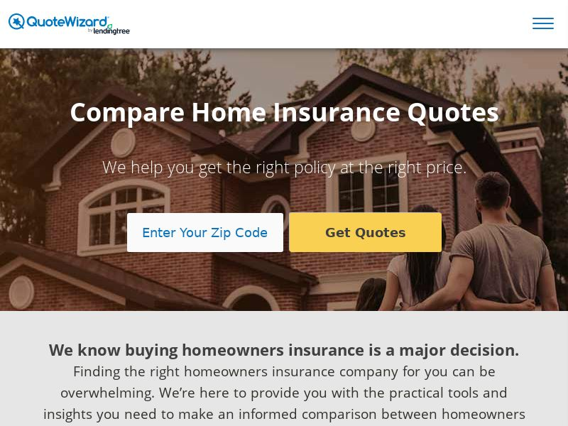 QuoteWizard by LendingTree - Home Insurance (CPA)