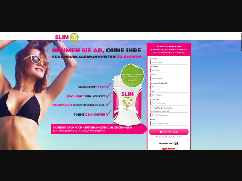 Slim 36 - Diet & Weight Loss - Trial - [DE]