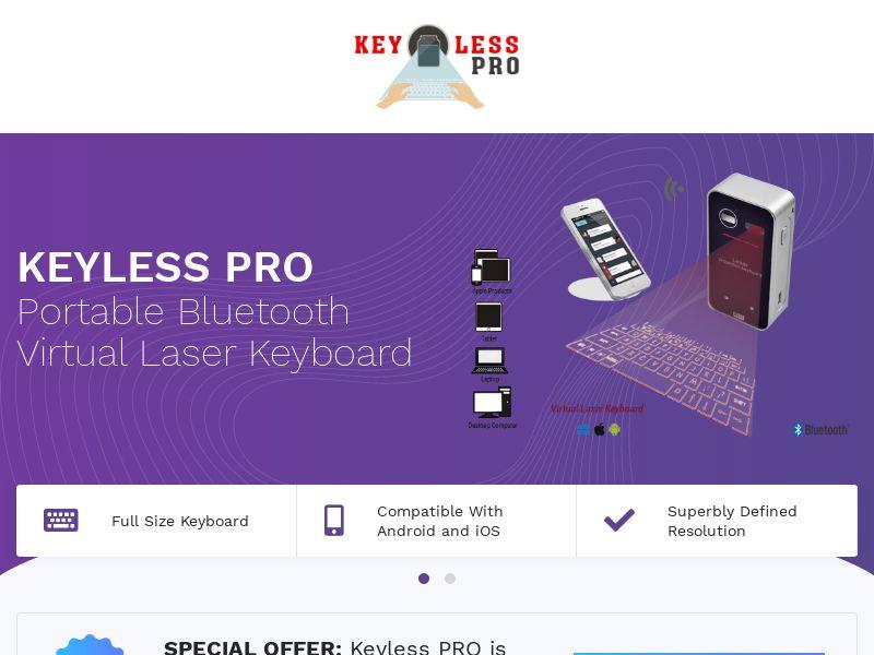 12434) [WEB+WAP] Laser keyboard KeylessPro - WW - CPS