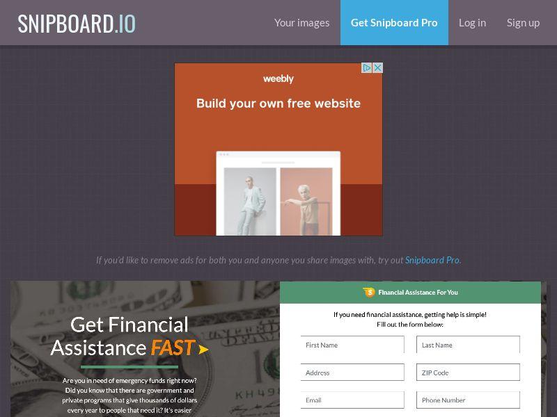 40832 - US - Financial Assistance (cap 100/day) - SOI