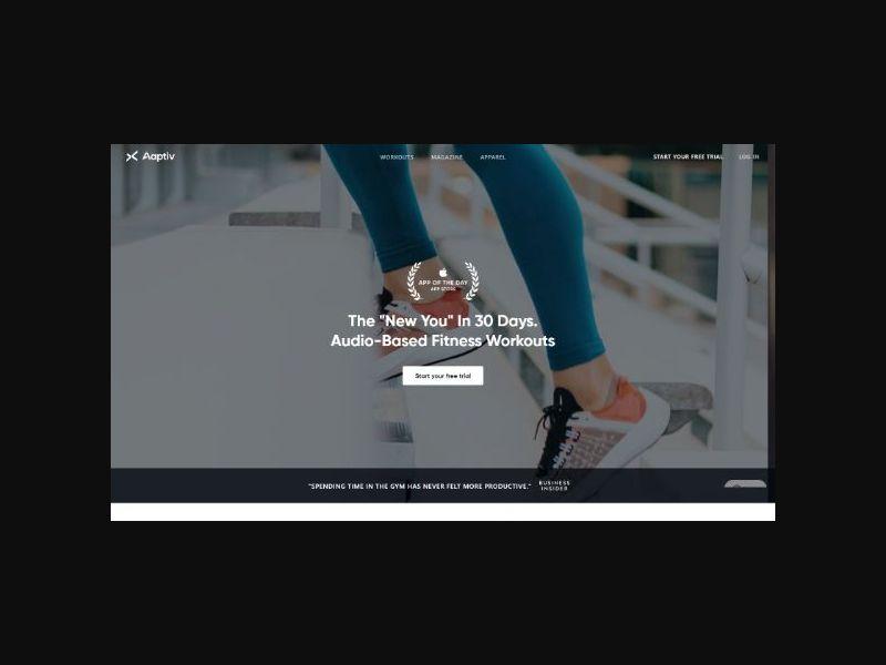 Aaptiv Fitness Program Desktop (INTL)