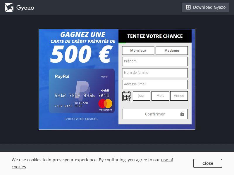 TakeBestPrize Paypal FR | SOI CPL