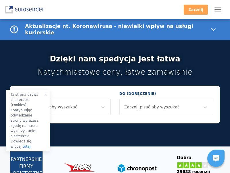 Eurosender - PL (PL), [CPS], Transport and Travel, Transport, Services, Online, Sell, holiday