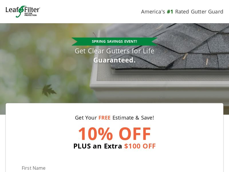 Leaf Filter Gutter Protection - Email Only - PRIVATE
