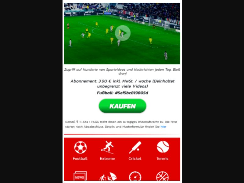 Football - 1 Click - AT-H3G - Sports - Mobile