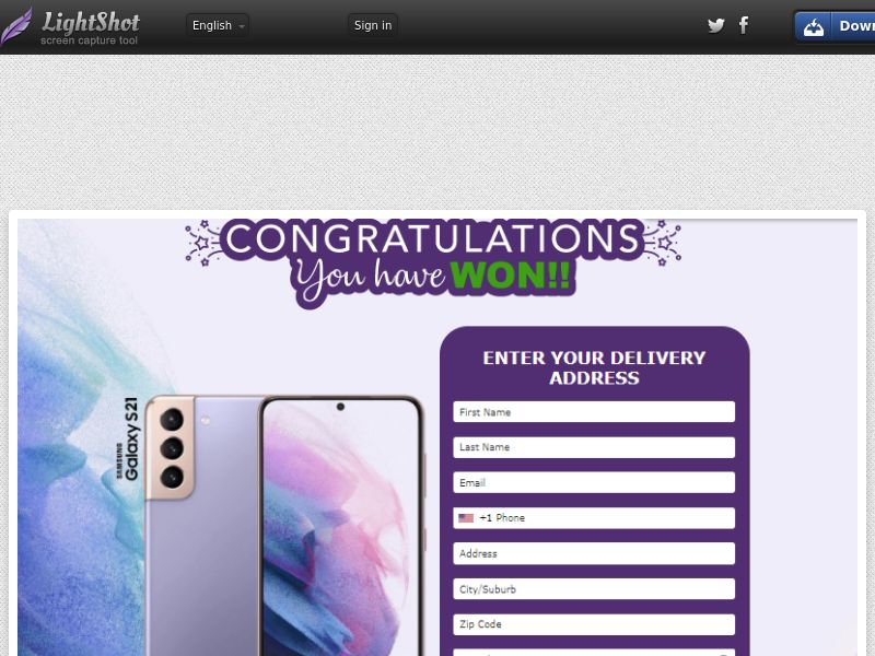 AbsoluteWinner - Samsung Galaxy S21 - Purple / Blue (US) (Trial) (Personal Approval)