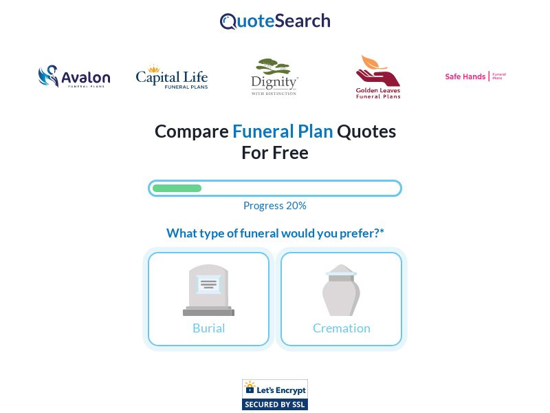 UK - Quotesearch Funeral Plan