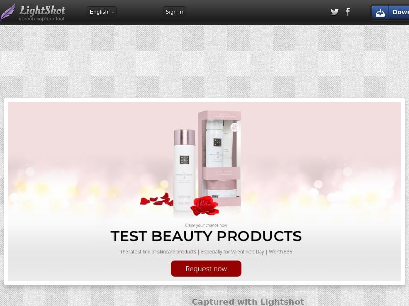 Lead Market - Rituals Cosmetics Valentines (UK) (CPL) (Personal Approval)