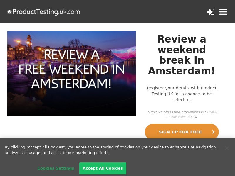 Product Testing - Review And Win An Amsterdam City Break