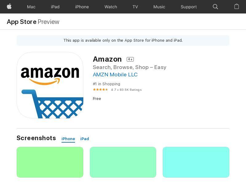 Amazon kindle iPAD ES IDFA APPNAME IMP