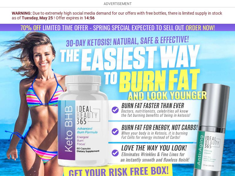 Ideal Beauty 365 Keto BHB [US] (Email,Social,Banner,Native,Push,SEO,Search) - CPA