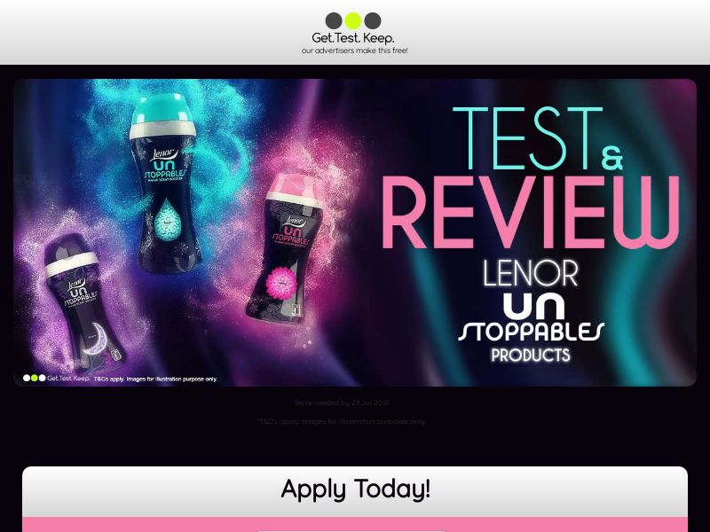 OfferX - Get Test Keep Lenor Unstoppabless [UK] (Display Only)