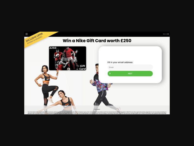 YOUSWEEPS - Win a Nike Gift Card (UK) SOI