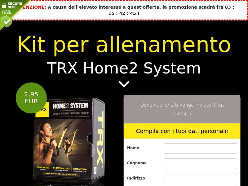 TRX Home2 System: Trainer Kit - IT