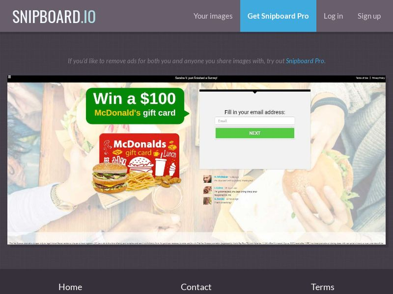 39663 - US - YouSweeps - Win a $100 McDonalds gift card - SOI