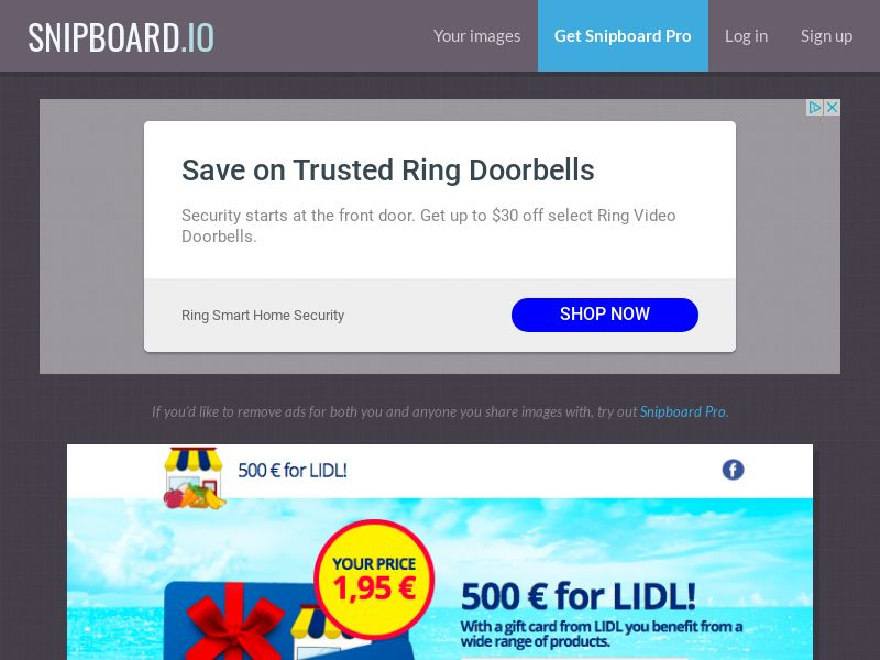 G33K - Lidl Supermarket Giftcard DE - CC Submit