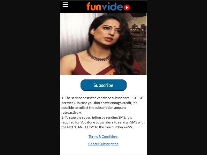 FunVideos - 2 Clicks - EG-Voda - Other - Mobile