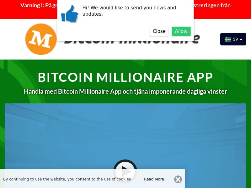 Bitcoin millionaire pro Swedish 1798