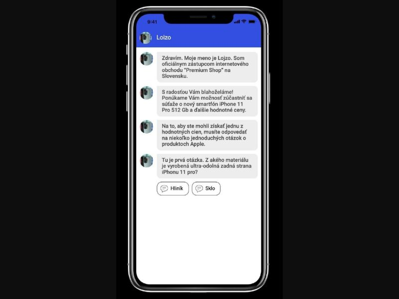 Sweepstakes IPhone 11Pro [Blue Messenger] (SK)