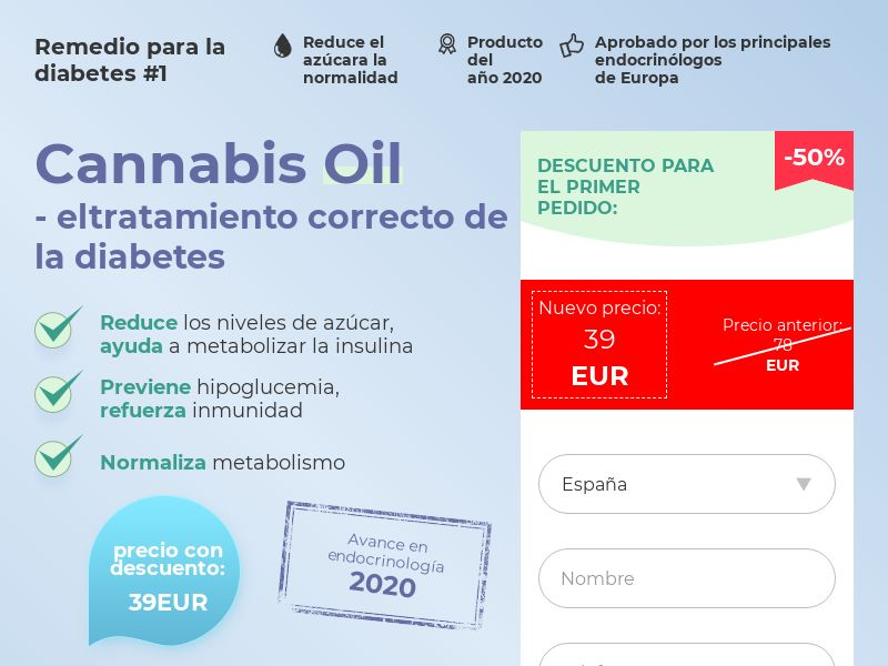 Cannabis Oil ES (diabet)