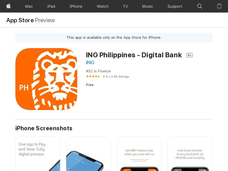 NG - ING Philippines (iOS Free PH 260MB w/capping) CPA - - (SCAPI)